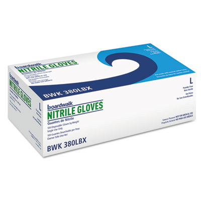 Boardwalk® Disposable General-Purpose Nitrile Gloves