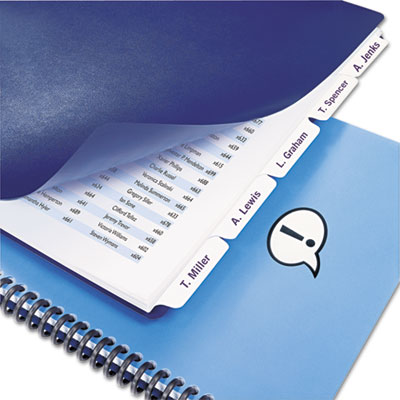 Swingline™ GBC® Customizable Index Tab Dividers for Binding Systems