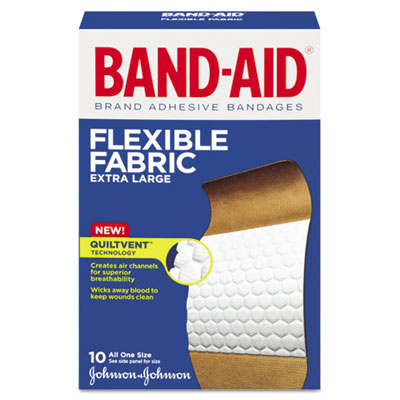BAND-AID® Flexible Fabric Extra Large Adhesive Bandages