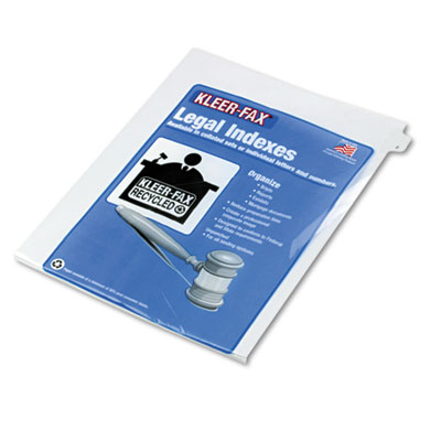 Kleer-Fax® 90000 Series Exhibit Alpha Side Tab Legal Index Divider
