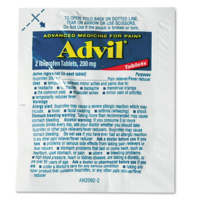 Advil® Ibuprofen Tablets Refill Packs