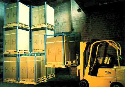 TIER-RACK PALLET STACKING FRAMES