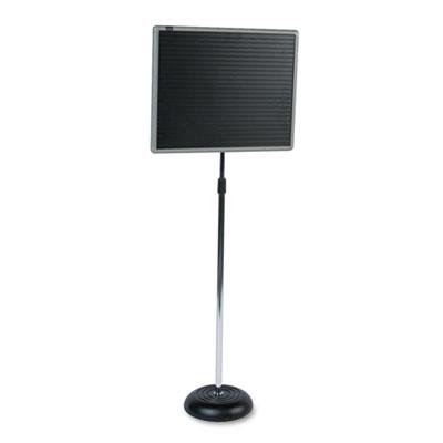Quartet® Adjustable Single-Pedestal Magnetic Letter Board