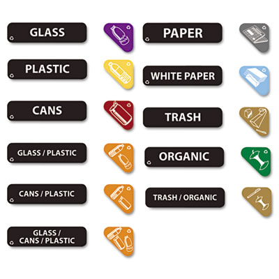 Rubbermaid® Commercial Recycle Label Kit