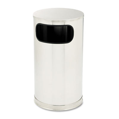 Rubbermaid® Commercial European & Metallic Series Waste Receptacle with Large Side Opening