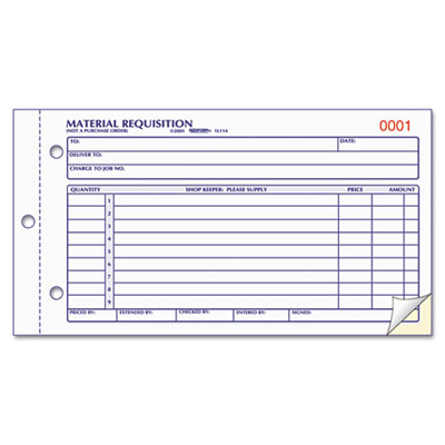 Rediform Material Requisition Book At Nationwide Industrial Supply Llc