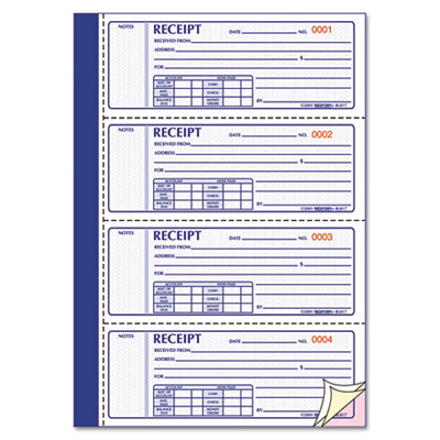 Nice Rediformu0026reg; Receipt Book Throughout Printable Receipt Book