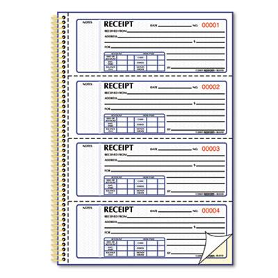 Rediform – Receipt Book Template