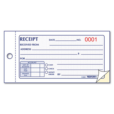 rediform small money receipt book at nationwide industrial supply llc