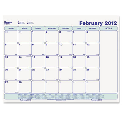 Blueline® Write-On Cling-On Poly Monthly Calendar