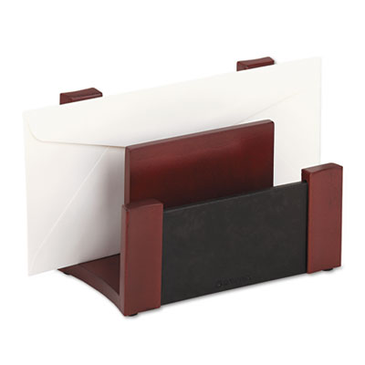 Rolodex™ Wood & Faux Leather Desktop Sorter