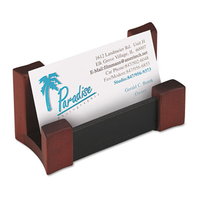 Rolodex wood faux leather business card holder at nationwide rolodextrade wood amp faux leather business card holder colourmoves