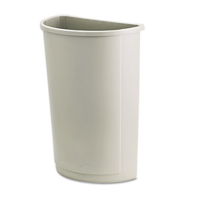 Rubbermaid® Commercial Untouchable® Half-Round Plastic Receptacle