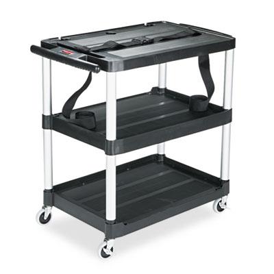 Rubbermaid® Commercial MediaMaster® Three-Shelf AV Cart