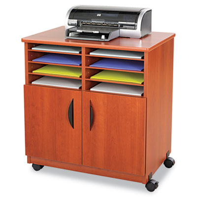 Safco® Mobile Laminate Machine Stand With Sorter Compartments