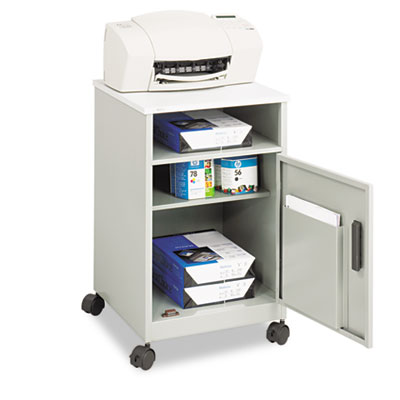 Safco® Steel Machine Stand with Open Storage Compartment
