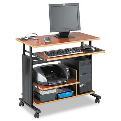 "Safco® Muv™ 28"" Adjustable-Height Mini-Tower Computer Desk"