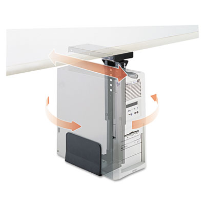 Safco® Ergo-Comfort® Swivel-Mount Under CPU Stand