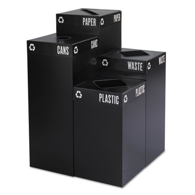 Safco® Public Square® Recycling Container Lid