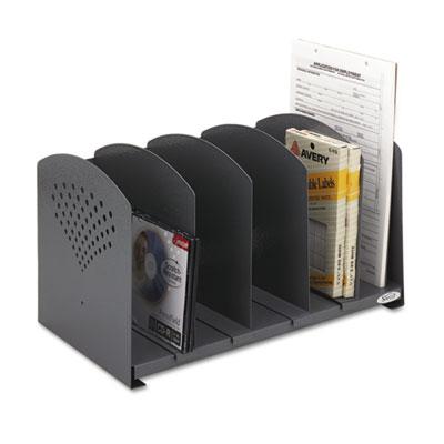 Safco® Five-Section Adjustable Steel Book Rack