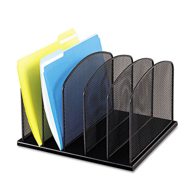 Safco® Onyx™ Mesh Desk Organizer with Upright Sections