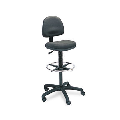 Safco® Precision Extended-Height Swivel Stool with Adjustable Footring