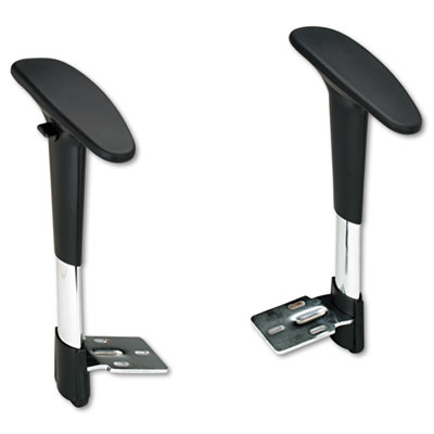 Safco® Optional Height-Adjustable T-Pad Arms for Safco® Metro™ Extended Height Chair