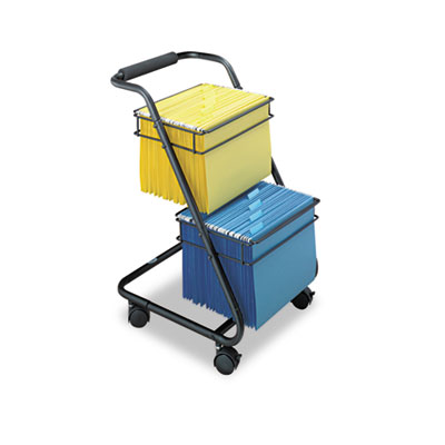 Safco® Jazz™ Two-Tier File Cart