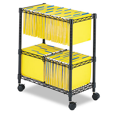 Safco® Two-Tier Rolling File Cart