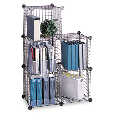 Safco® Wire Cube Shelving System at Nationwide Industrial Supply, LLC