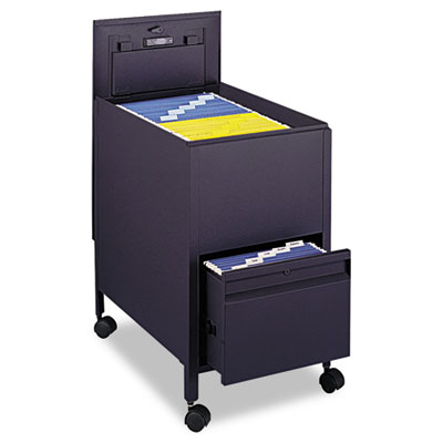 Safco® Locking Mobile Tub File with Drawer