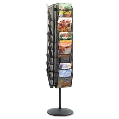 Safco® Onyx™ Mesh Rotating Magazine Display
