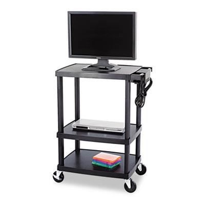 Safco® Three-Shelf Height-Adjustable AV Cart