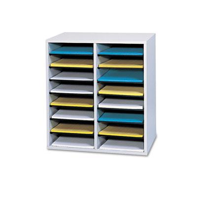 Safco® Adjustable Compartment Wood Literature Organizers