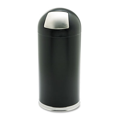 Safco® Dome Top Receptacle with Spring-Loaded Door