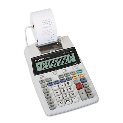 Sharp® EL-1750V Two-Color Printing Calculator