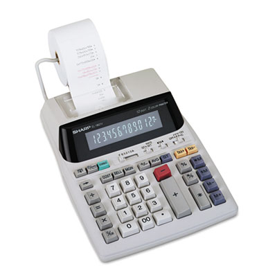 Sharp® EL-1801V Two-Color Printing Calculator