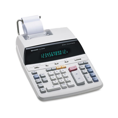 Sharp® EL2192RII Two-Color Roller Printing Calculator