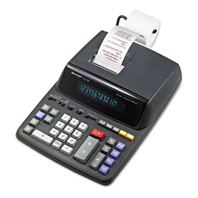Sharp® EL2196BL Two-Color Printing Calculator