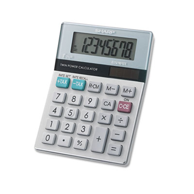 Sharp® EL-310TB Twin Powered Semi-Desktop Calculator