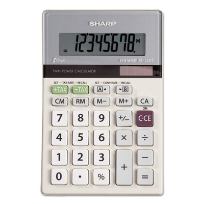Sharp® EL330TB Portable Desktop Calculator