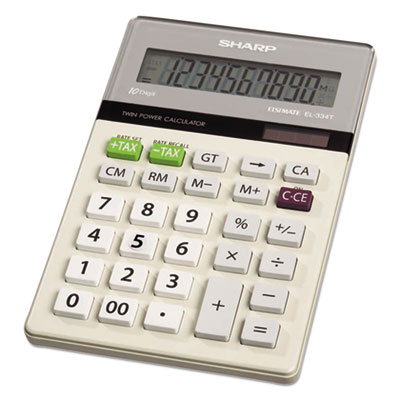 Sharp® EL334TB Portable Desktop Calculator
