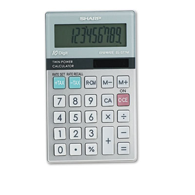 Sharp® EL377TB Handheld Business Calculator