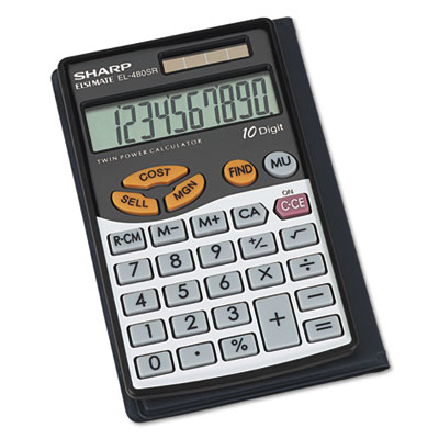 Sharp® EL480SRB Handheld Business Calculator