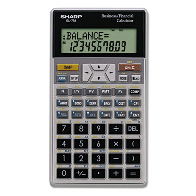 Sharp® EL-738C Financial Calculator