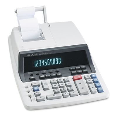 Sharp® QS-1760H Two-Color Commercial Ribbon Printing Calculator