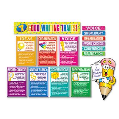 "Scholastic ""7 Good Writing Traits"" Bulletin Board Set"