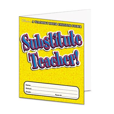 Scholastic Substitute Teacher Essential Folder