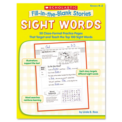 Scholastic Fill-in-the-Blank Stories: Sight Words