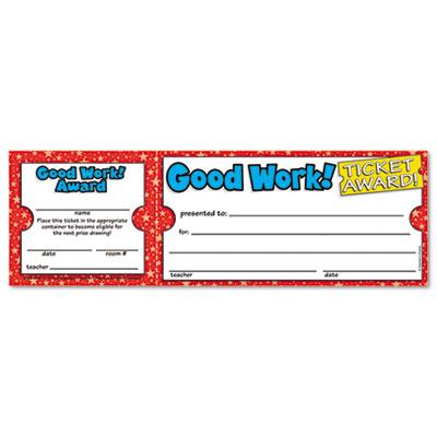 Scholastic Student Award Tickets